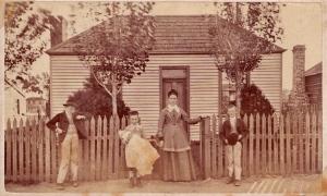 William, Mary Ellen (aka Dolly), Margaret & Walter Savage, Ballarat c. 1877