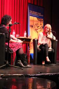 Interviewing Kathy Reichs in Melbourne. Photo: Jessica Fichera