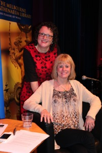 With Kathy Reichs