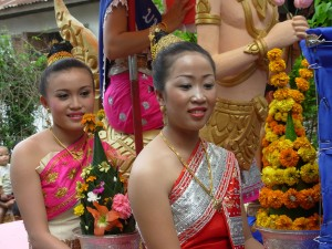 2008 Beauty pageant finalists in Vang Vieng, Laos