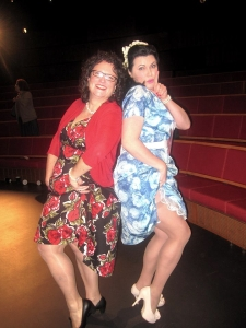 Me & Leigh channelling 1950s housewives. Photo: Deb Bodinnar