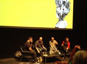 Adrian McKinty, David Whish-Wilson, John Williams & Angela Savage, MWF. Photo: Sulari Gentill