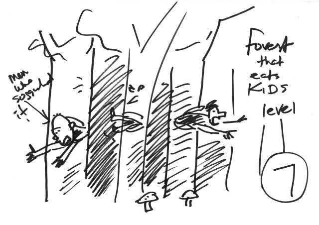 Denton_Kid eating forest