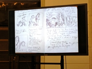Gabrielle Wang's notebook for the Meet Poppy books