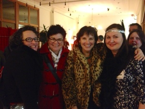Me with writers Katherine Howell & Liz Porter & Bethany Clark from SA Writers