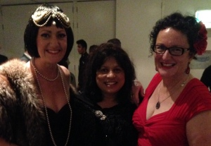Winners are grinners: TJ Hamilton, Sulari Gentill & me at GenreCon