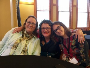 With two very good women, Goldie Goldbloom & Meredith Martinez