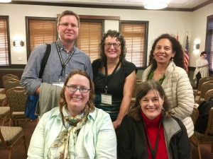 Aussies in Arizona: Dominic Smith, me, exchange student Jean, Goldie Goldbloom and author Margaret Spence